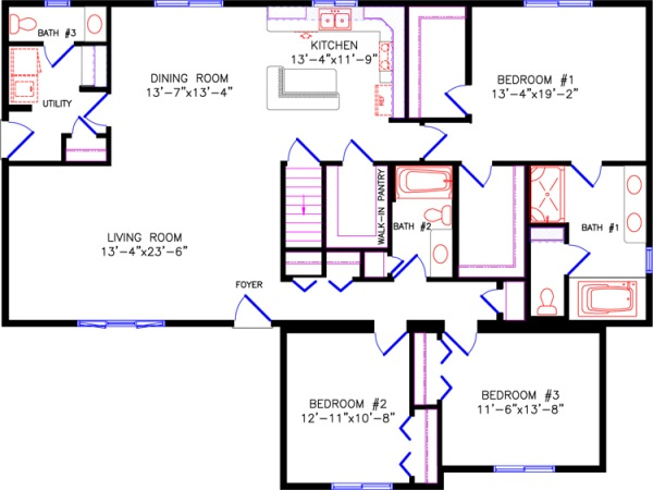 Floor plan 2 for Westport homes ranch floor plans