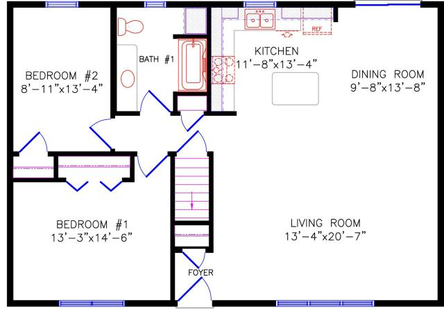 Floor Plan 8 on One Bedroom House Plans With Loft